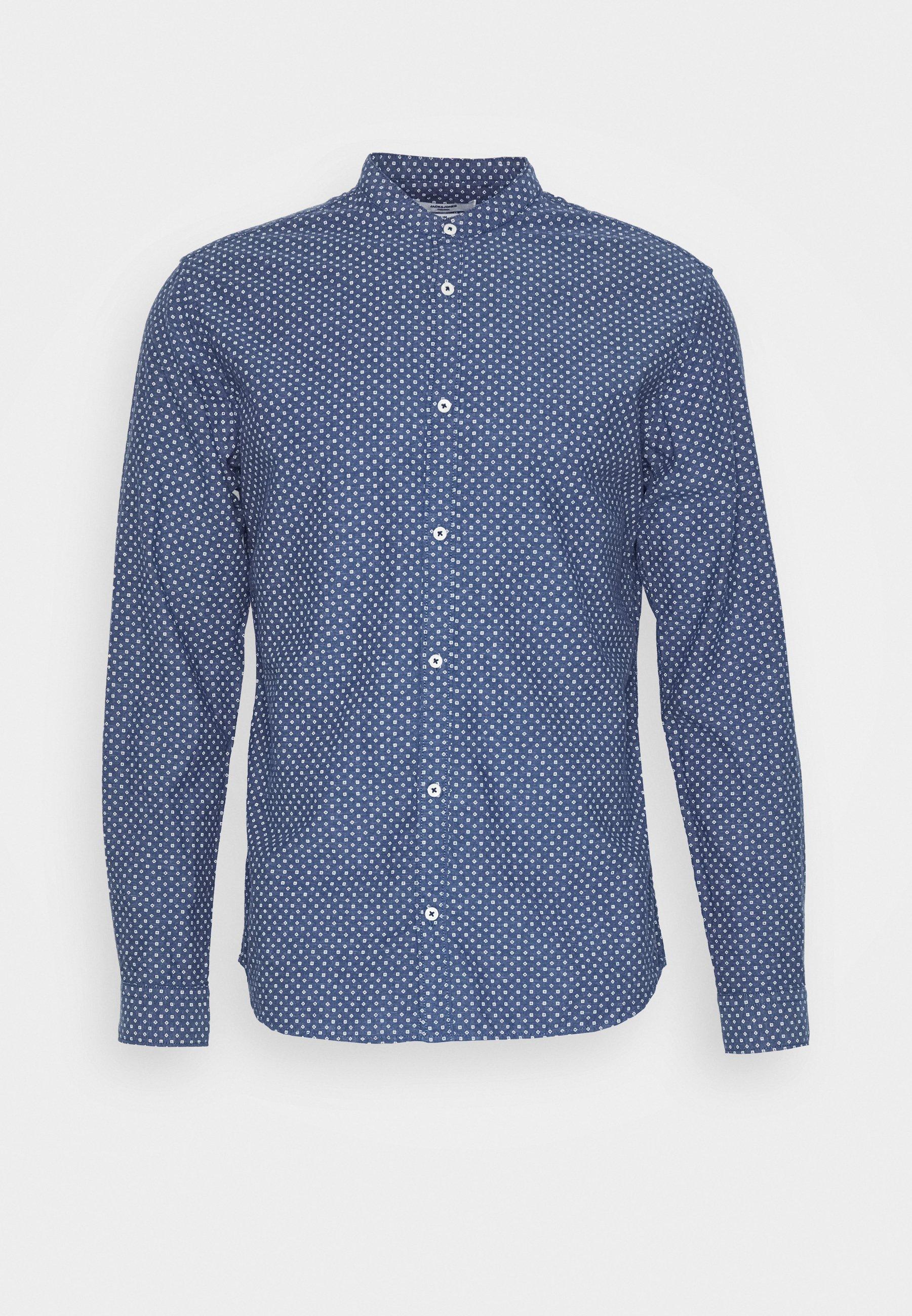 Jack & Jones PREMIUM JPRBLASUMMER BAND PRINT SHIRT - Koszula - navy blazer