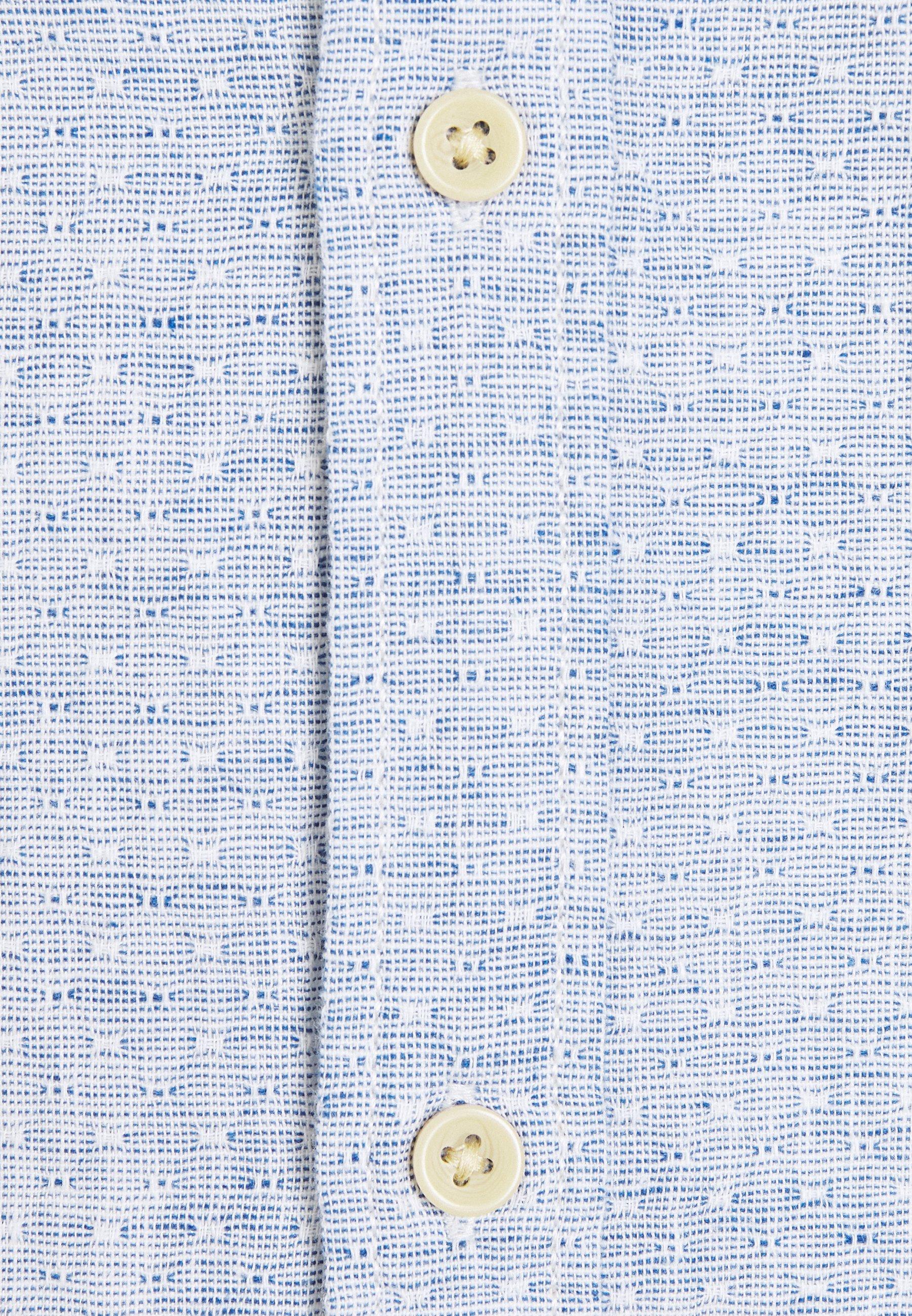 Jack & Jones Premium Jprblusummer Dobby Band - Camicia Blue JTedd