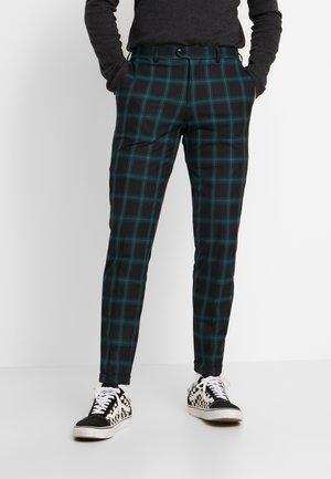 JPRSID TROUSER CHECK - Spodnie materiałowe - dark green