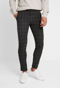Jack & Jones PREMIUM - JJIMARCO JJCONNOR CHECK - Chino - dark grey - 0