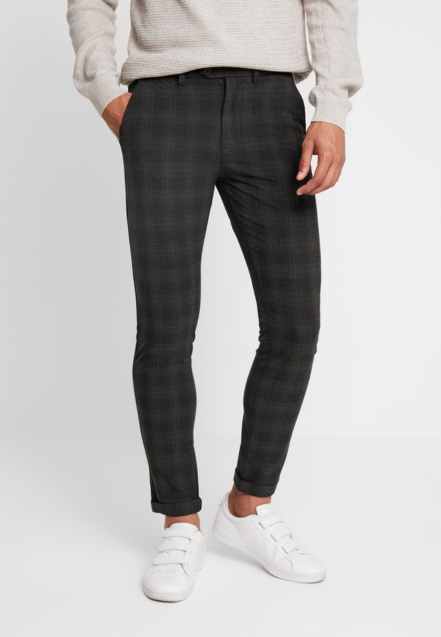 JJIMARCO JJCONNOR CHECK - Chinos - dark grey