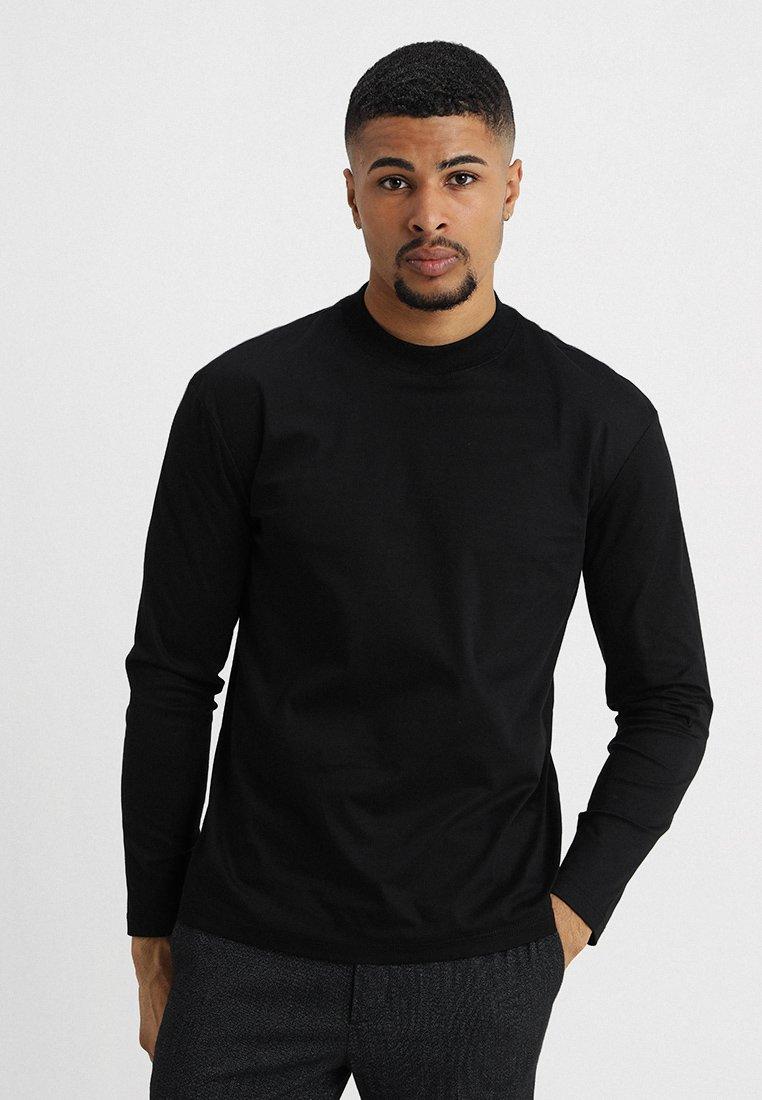 Jack & Jones PREMIUM JPRRICK HIGHNECK TEE - T-shirt à manches longues black