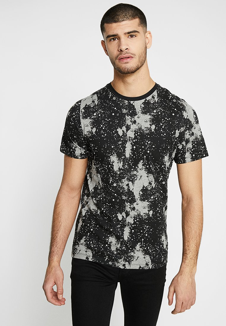 Jack & Jones PREMIUM - JPRBASTIAN TEE CREW NECK - T-Shirt print - black