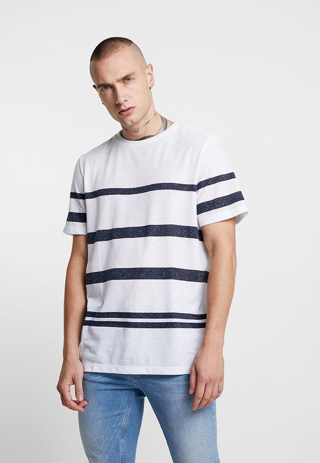 JPRRIVE TEE CREW NECK - T-Shirt basic - white/navy