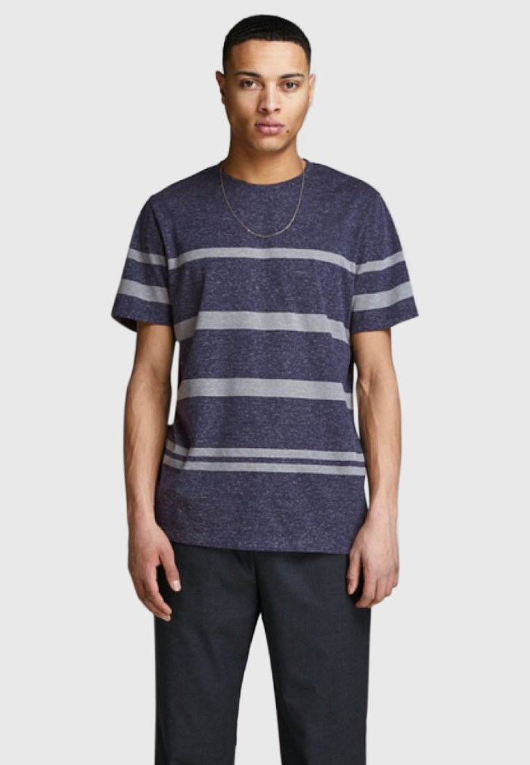 Jack & Jones PREMIUM - JPRRIVE TEE CREW NECK - T-shirt basic - dark-blue denim