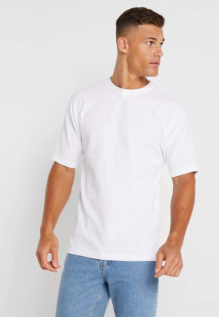 Jack & Jones PREMIUM - JPRMARK TEE CREW NECK REGULAR FIT - T-Shirt basic - cloud dancer