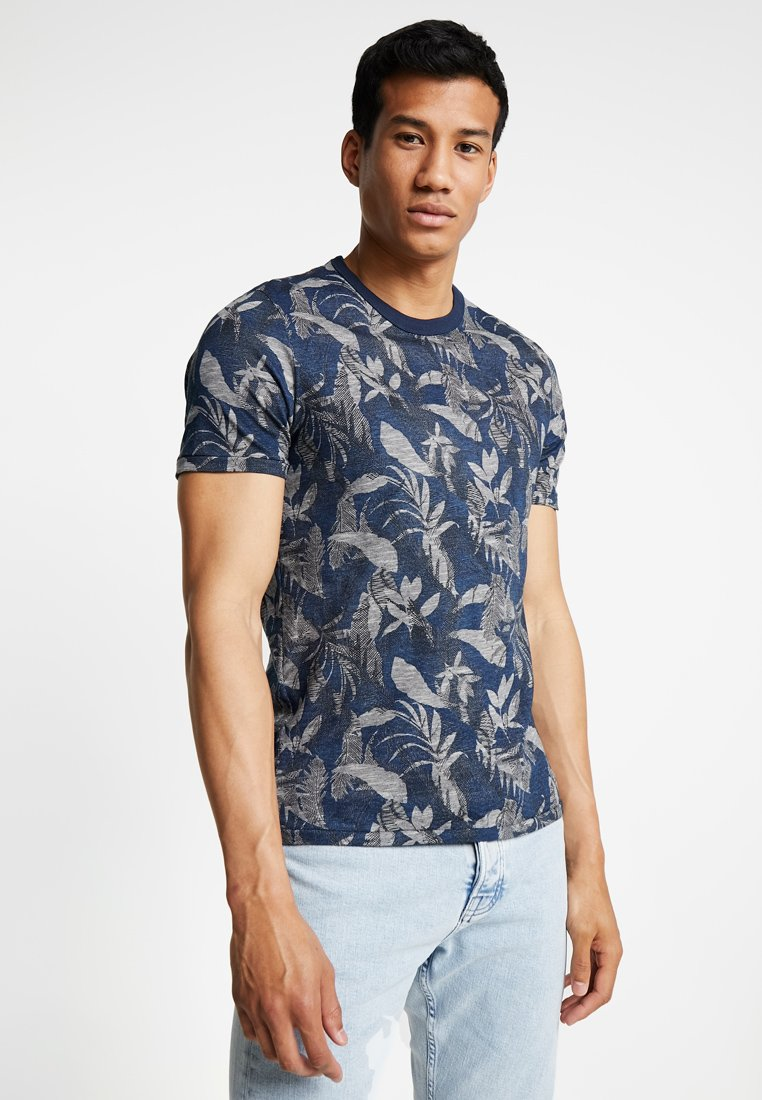 Jack & Jones PREMIUM - JPRCALEB TEE CREW NECK - Printtipaita - estate blue