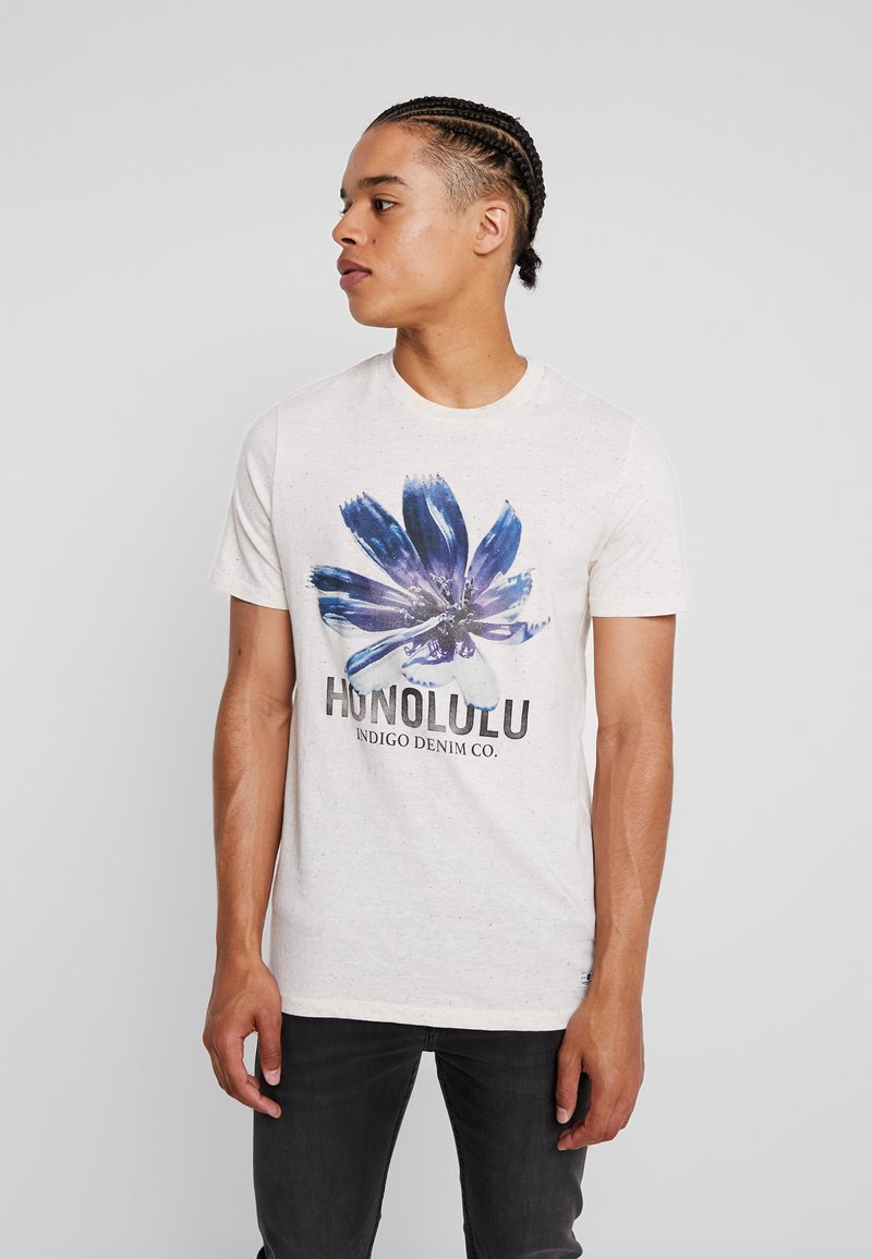 Jack & Jones PREMIUM - JPRRICK TEE CREW NECK - T-Shirt print - whisper white