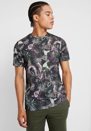 JPRLEONARD TEE CREW NECK - T-shirt med print - black