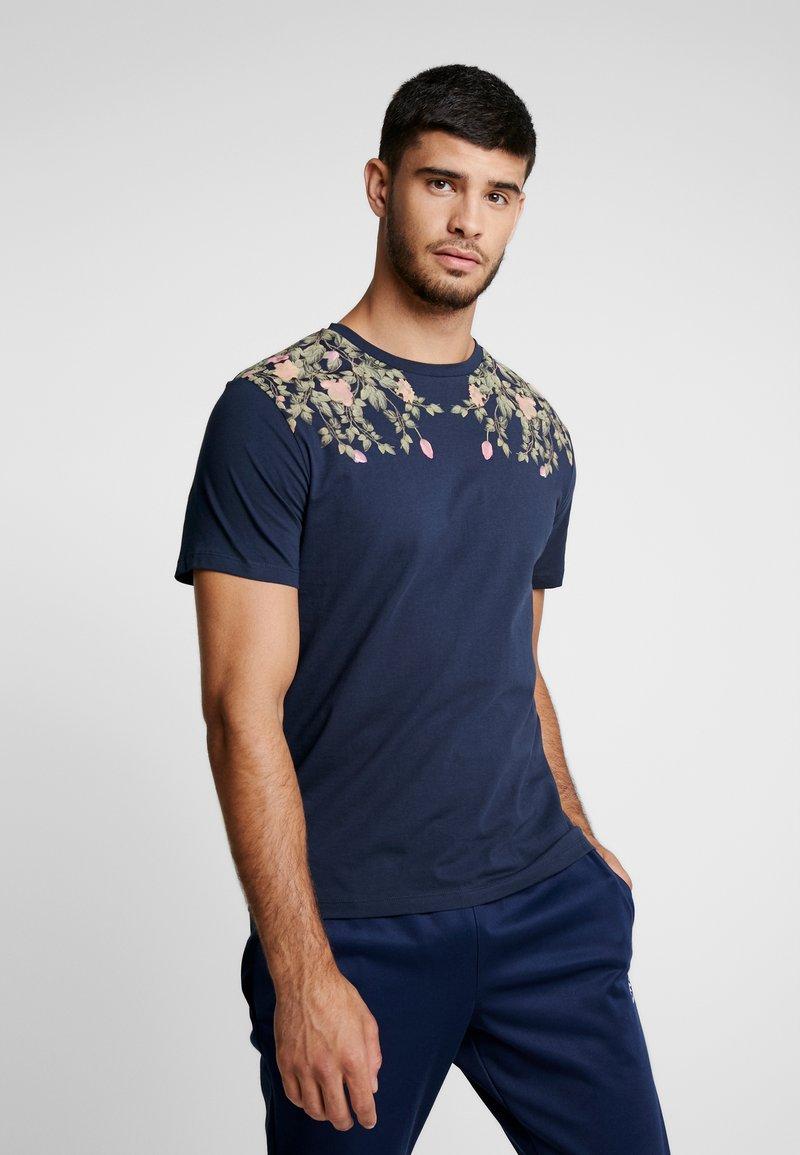 Jack & Jones PREMIUM - JPRLENX TEE CREW NECK - T-Shirt print - navy blazer