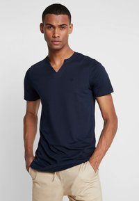 Jack & Jones PREMIUM - JPRMISA TEE CREW NECK - Basic T-shirt - navy blazer - 0