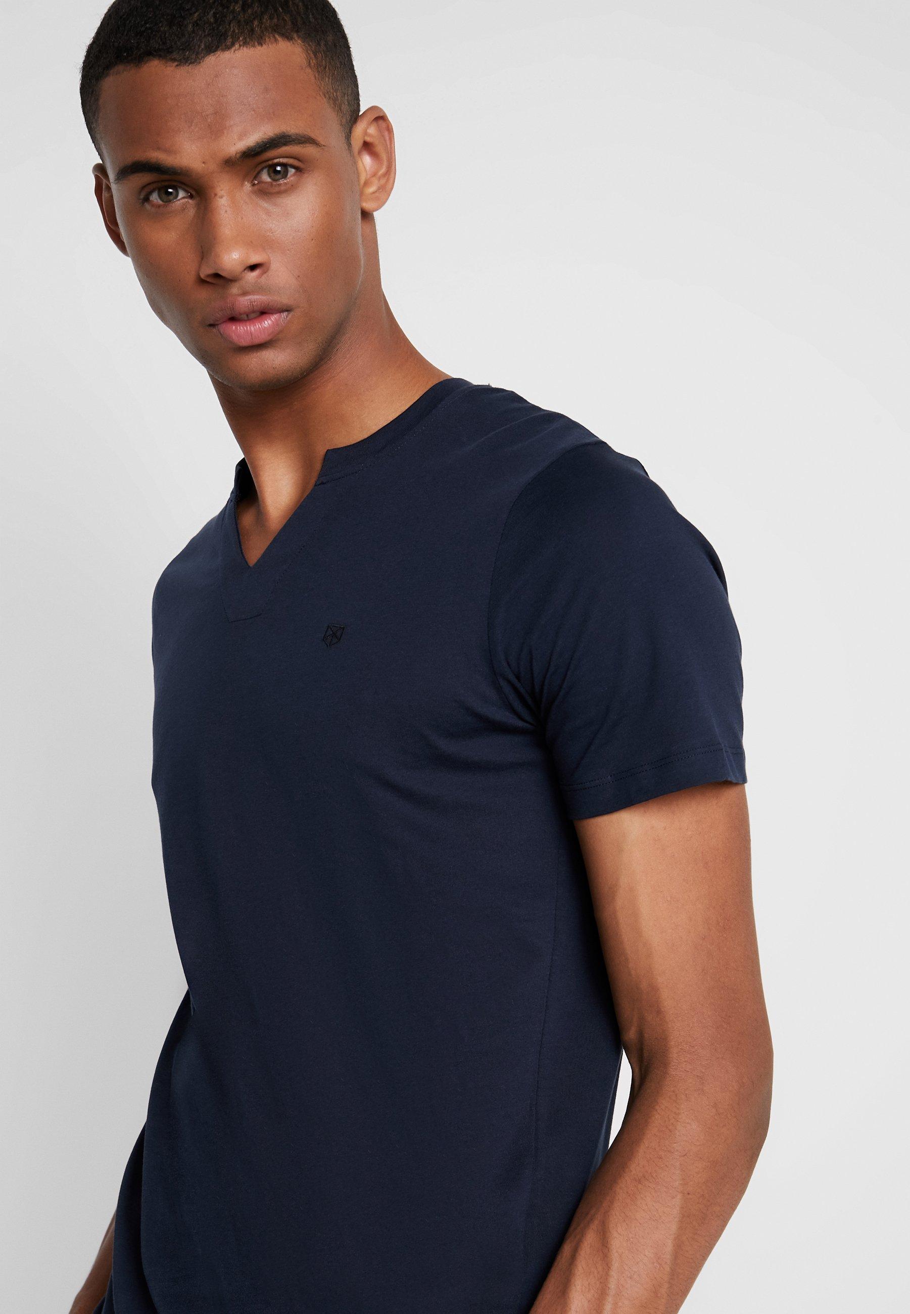 Jack & Jones PREMIUM JPRMISA TEE CREW NECK - Camiseta básica navy blazer