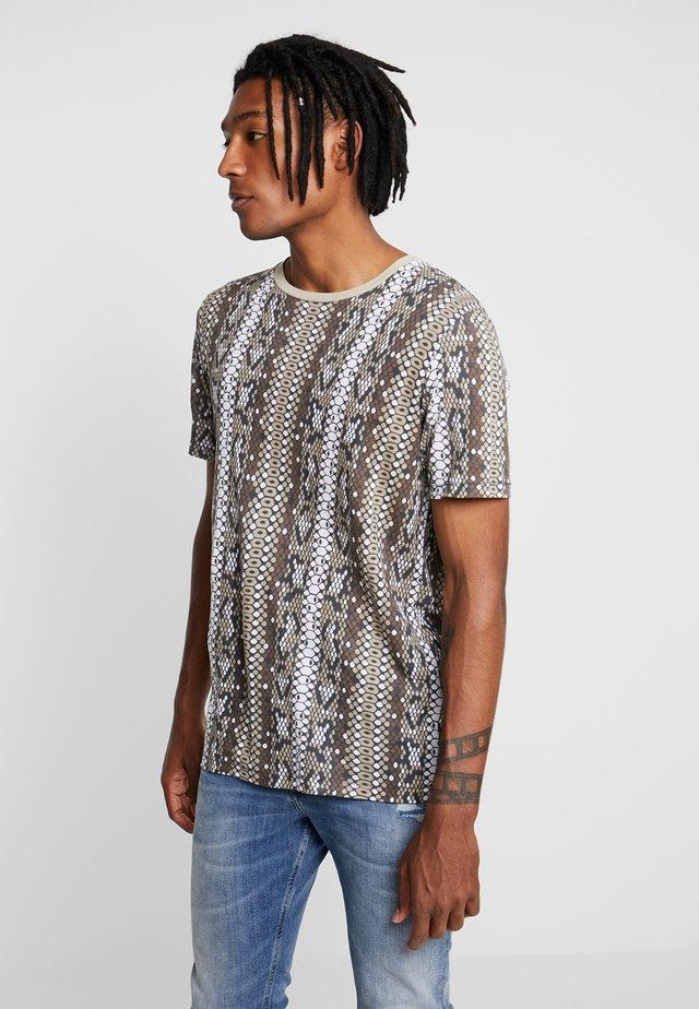 JPRVIPER TEE CREW NECK - T-shirt con stampa - magnet