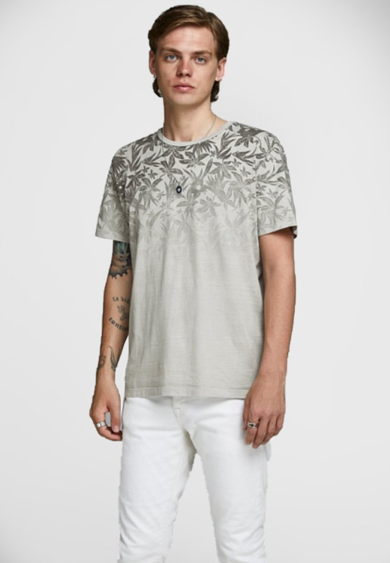 Jack & Jones PREMIUM - Print T-shirt - metal