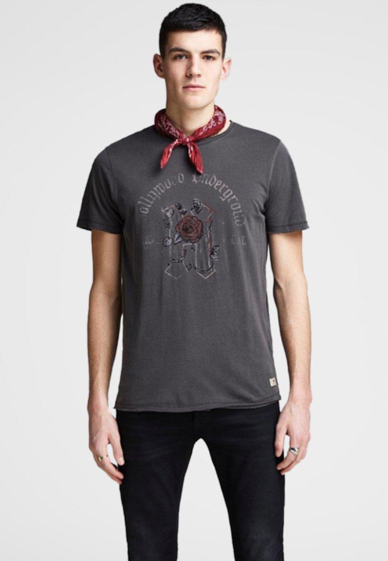 Jack & Jones PREMIUM T-shirt z nadrukiem - black