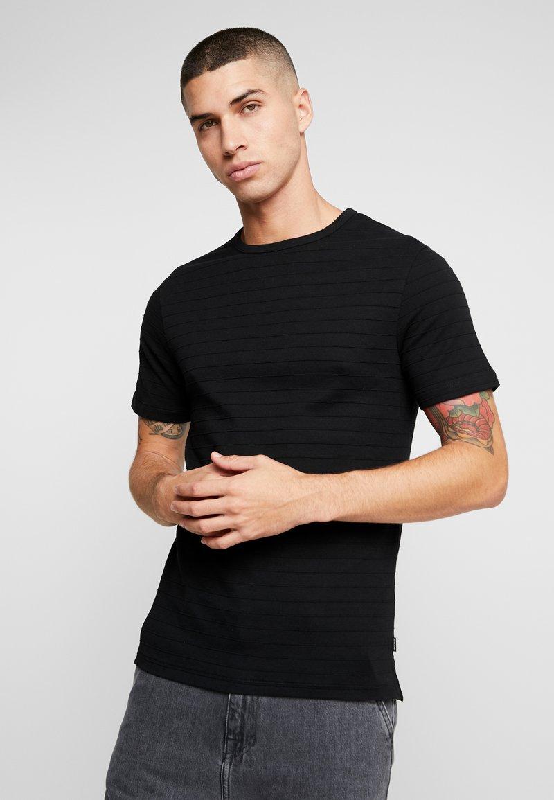 Jack & Jones PREMIUM - JPRGERARD TEE CREW NECK - T-Shirt basic - black