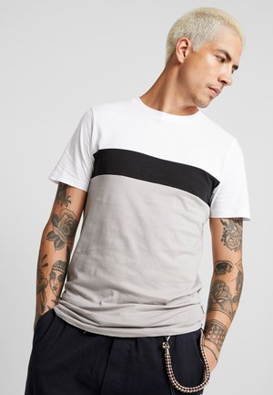 JPRCLIFFORD TEE CREW NECK SLIM - T-shirt con stampa - white