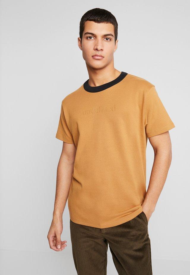 JPRMATE TEE CREW NECK  - T-shirt basic - tobacco brown