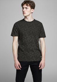 Jack & Jones PREMIUM - KENTON  - Print T-shirt - black - 0