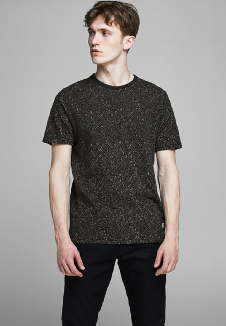 Jack & Jones PREMIUM - KENTON  - Print T-shirt - black