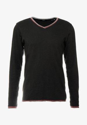JPRIAEN BLA TEE NECK - Pitkähihainen paita - black