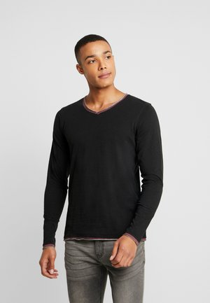 JPRIAEN BLA TEE NECK - Long sleeved top - black