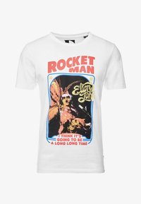 Jack & Jones PREMIUM - JPRROCKETMAN TEE CREW NECK - T-shirts med print - white - 3
