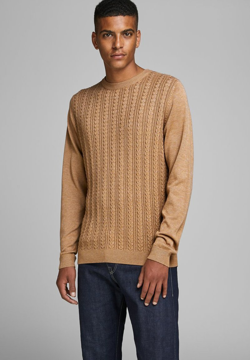 Jack & Jones PREMIUM - Jumper - tobacco brown