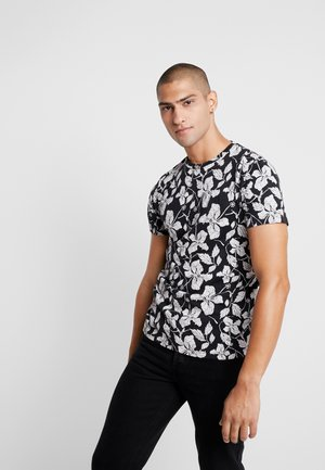 JPROSCAR TEE REGULAR FIT - T-shirt med print - caviar
