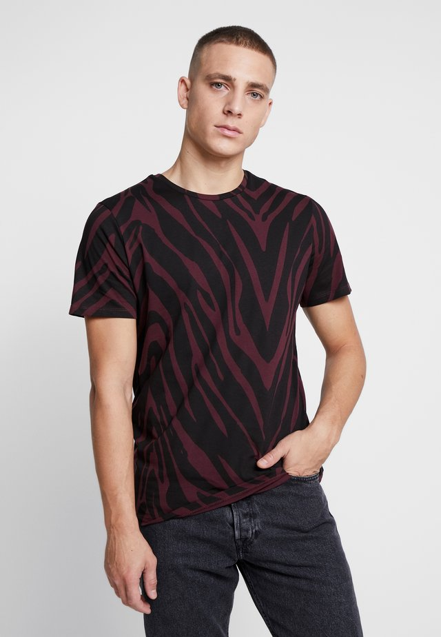 JPRSAVANNAH TEE CREW NECK - T-shirt print - port royale/black
