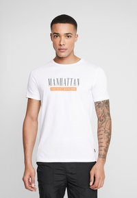 Jack & Jones PREMIUM - JPRSMART TEE CREW NECK - T-Shirt print - white - 0