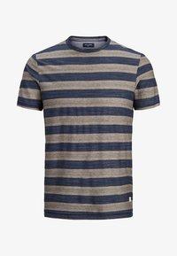 Jack & Jones PREMIUM - STRUKTURSTRICK - Print T-shirt - mood indigo - 6