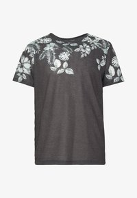 Jack & Jones PREMIUM - TIME TEE CREW NECK - Print T-shirt - dark grey