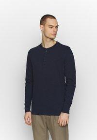 Jack & Jones PREMIUM - GRANDDAD - Bluzka z długim rękawem - navy blazer - 0