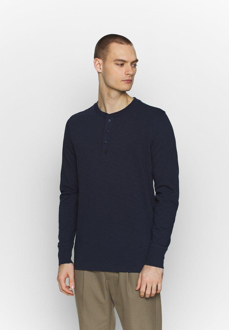 Jack & Jones PREMIUM - GRANDDAD - Bluzka z długim rękawem - navy blazer
