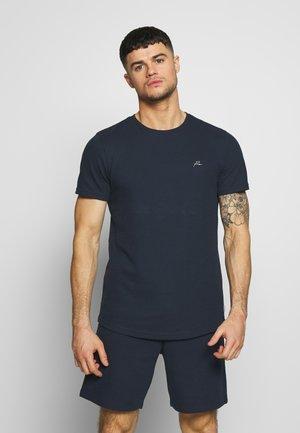 JPRFRANCO  CREW NECK - Jednoduché triko - navy blazer