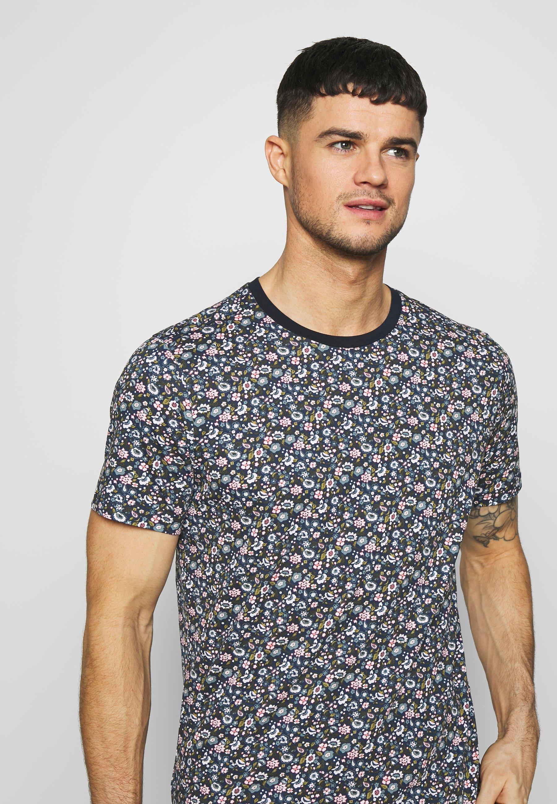 Jack & Jones JPRJAMES TEE CREW NECK - T-shirt z nadrukiem - navy blazer