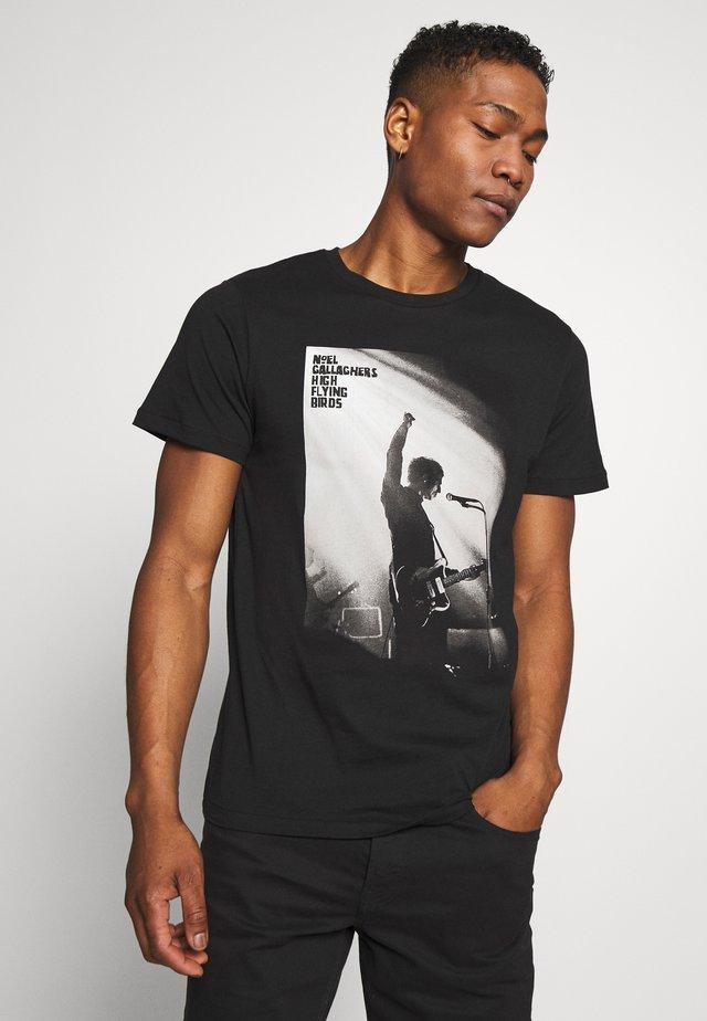 JPRNOEL TEE CREW NECK - T-shirt con stampa - black