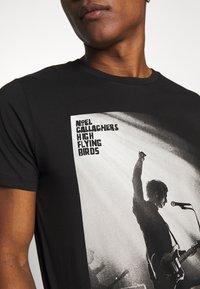 Jack & Jones - JPRNOEL TEE CREW NECK - T-shirt print - black - 4