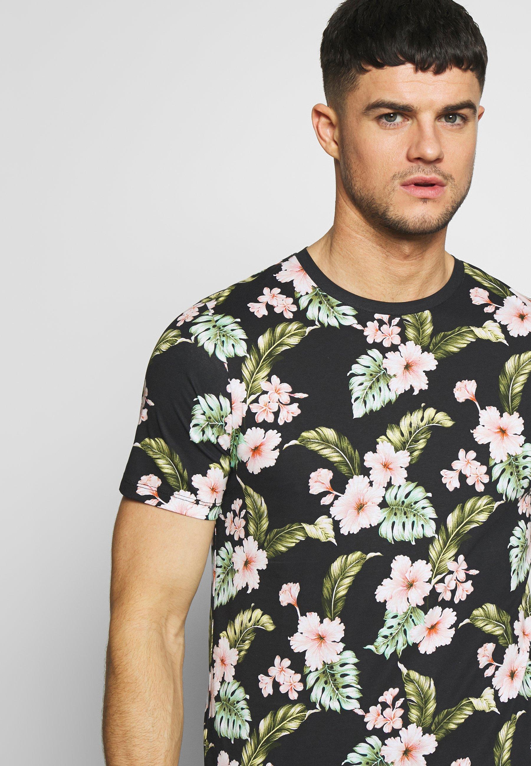 Jack & Jones PREMIUM JPRDALE TEE CREW NECK SLIM FIT - T-shirt z nadrukiem - black