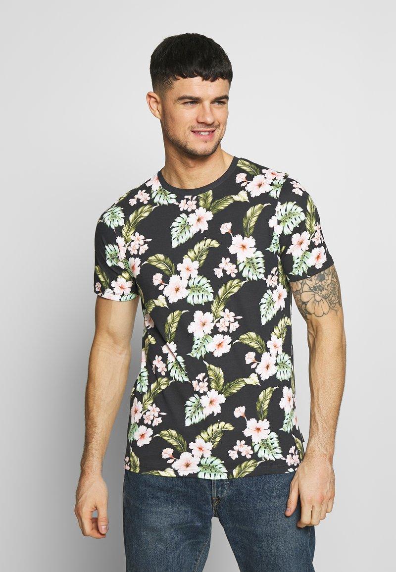 Jack & Jones PREMIUM - JPRDALE TEE CREW NECK SLIM FIT - Print T-shirt - black