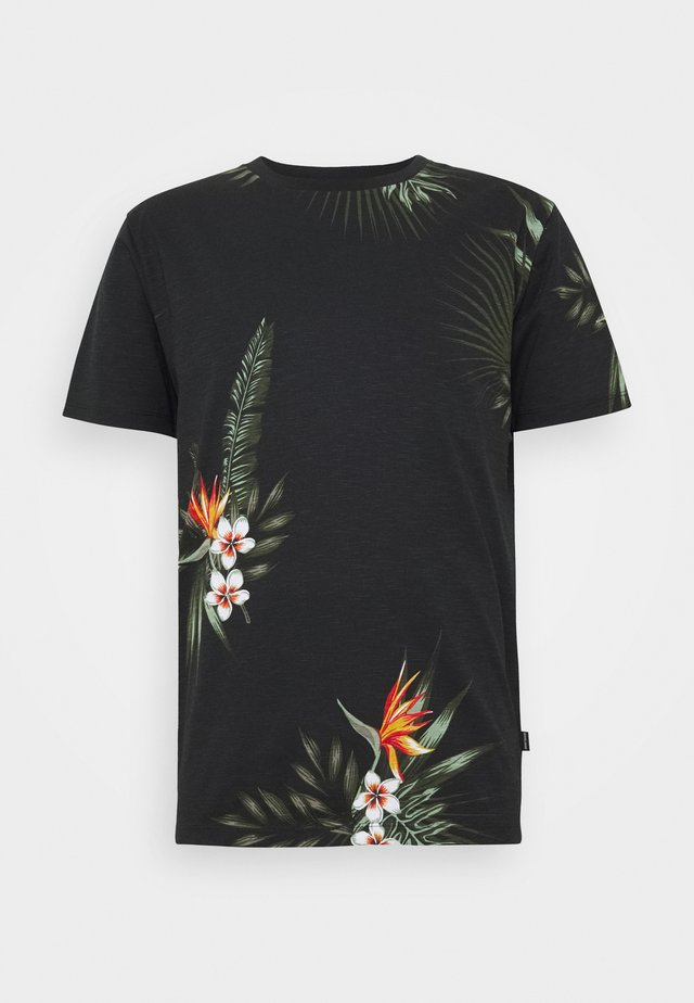 JPRHOLIDAY TEE CREW NECK - T-shirts print - black
