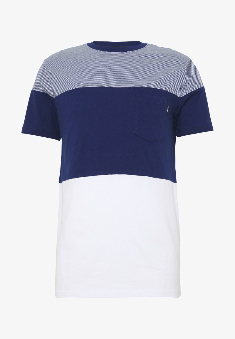Jack & Jones - JPRJORDAN TEE CREW NECK - Camiseta estampada - blue depths