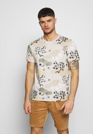 JPRBLA CHIME TEE CREW NECK - Print T-shirt - grey