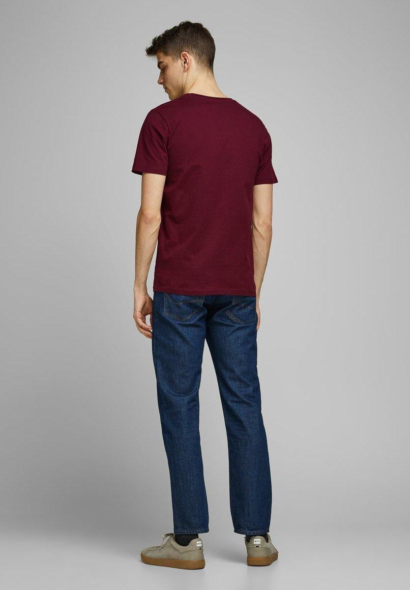 Jack & Jones PREMIUM T-shirt z nadrukiem - zinfandel