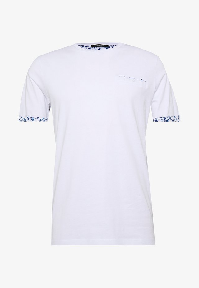 JPRBLACKPOOL BLA TEE - Print T-shirt - white