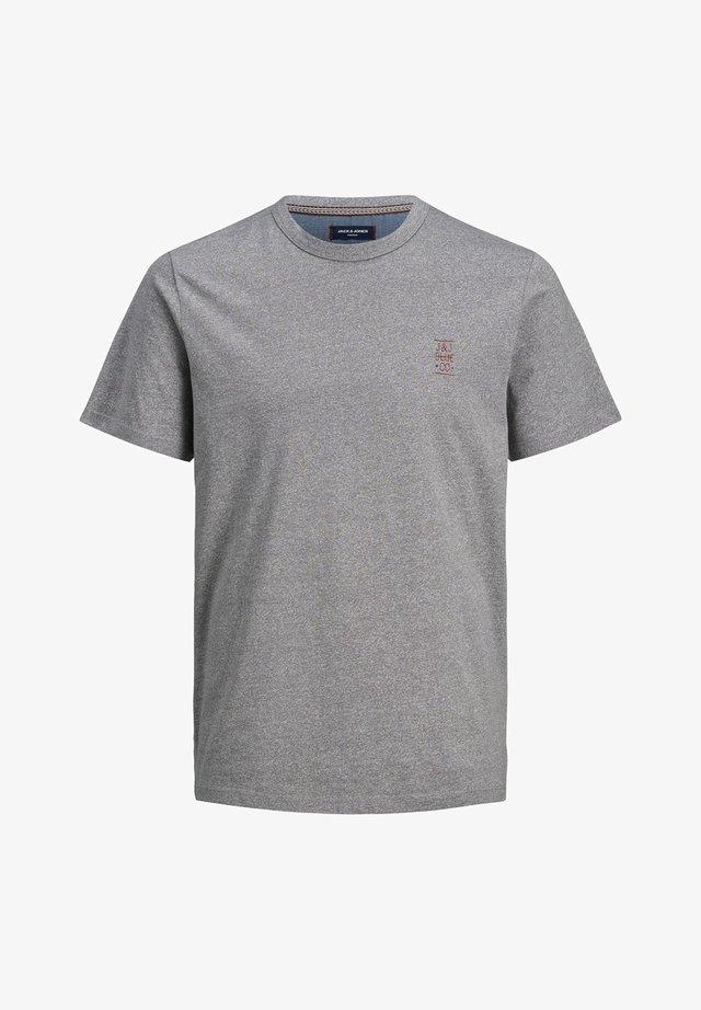 JACK & JONES PREMIUM T-SHIRT RUNDHALSAUSSCHNITT - Basic T-shirt - light grey melange