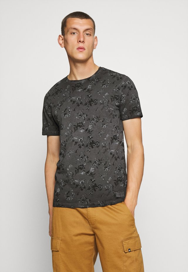 JPRBLASHAWN TEE CREW NECK - Print T-shirt - black