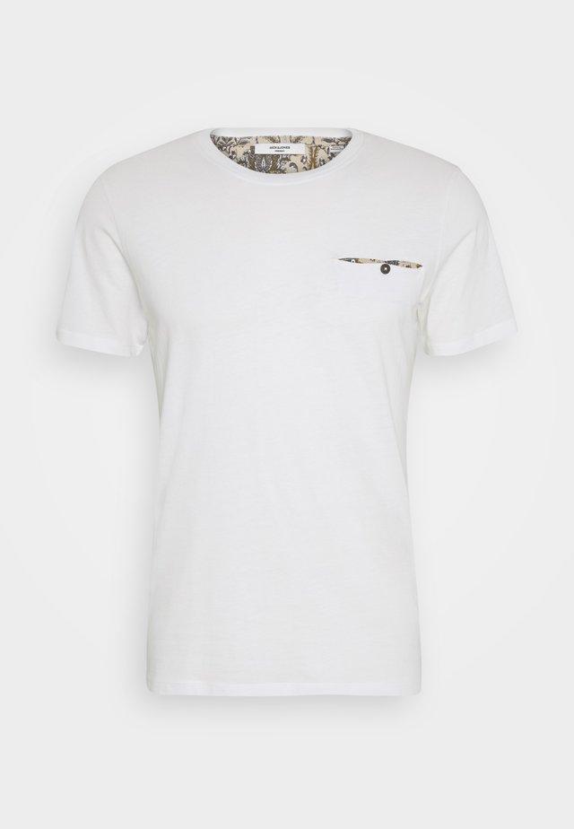 JPRDEPP POCKET TEE - T-shirt basic - blanc de blanc