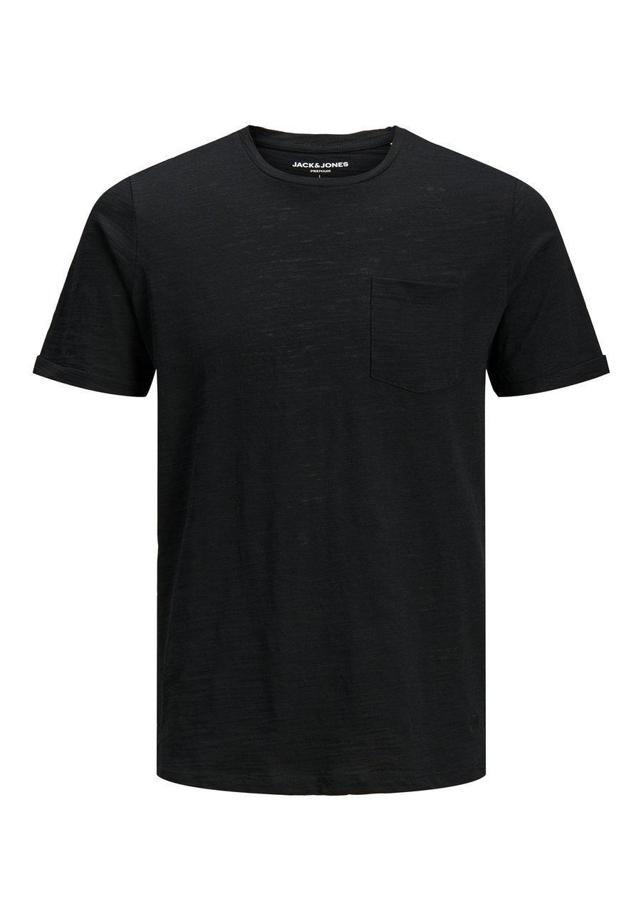 Jack & Jones JJEPOCKET TEE SS O-NECK - T-shirts basic - black